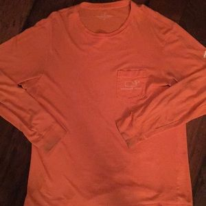 Vineyard Vines Light Orange Longsleeve Shirt